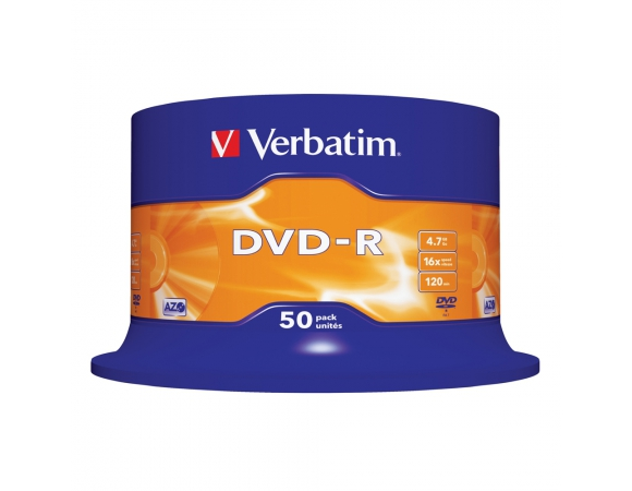 Verbatim DVD-R 16x 4,7GB CakeBox50