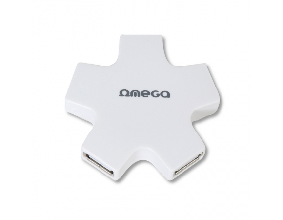 HUB OMEGA USB 2.0 4 PORT STAR WHITE [42858]