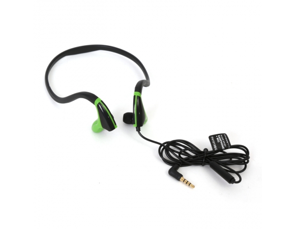 EARPHONES FREESTYLE IN-EAR + MIC SPORT FH1019 BLACK + GREEN [42443]