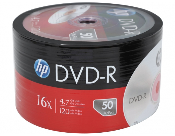 DVD-R HP 16x 4,7GB Pack 50