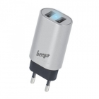 Travel Charger Beeyo 3,4A silver DOUBLE USB WALL CHARGER