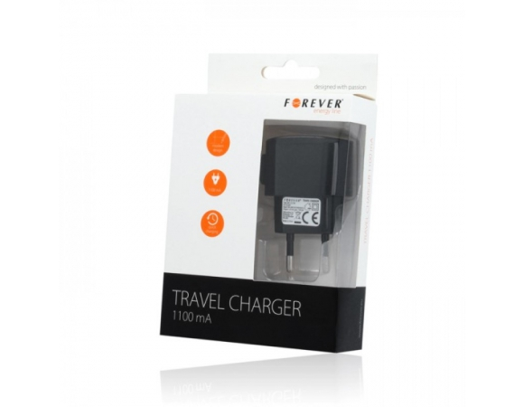 Travel Charger Forever 1A + Cable For Iphone 3/4