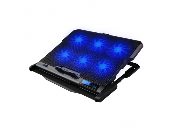Cooler Pad OMEGA Laptop 6x Fans Cool Wave Black