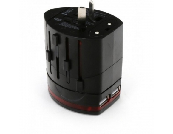 Traver Power Adaptor Omega  220-250V 4in1 Black