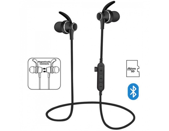 Earphones PLATINET Bluetooth 4.2 Sport with Microphone +microSD PM1060B Black