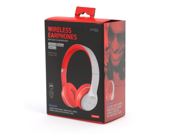 Headphones Οmega Wireless Bluetooth Grey (FH0915GR)