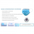 Protection Face Mask 3 Layer 5 Τεμάχια Bag Blue